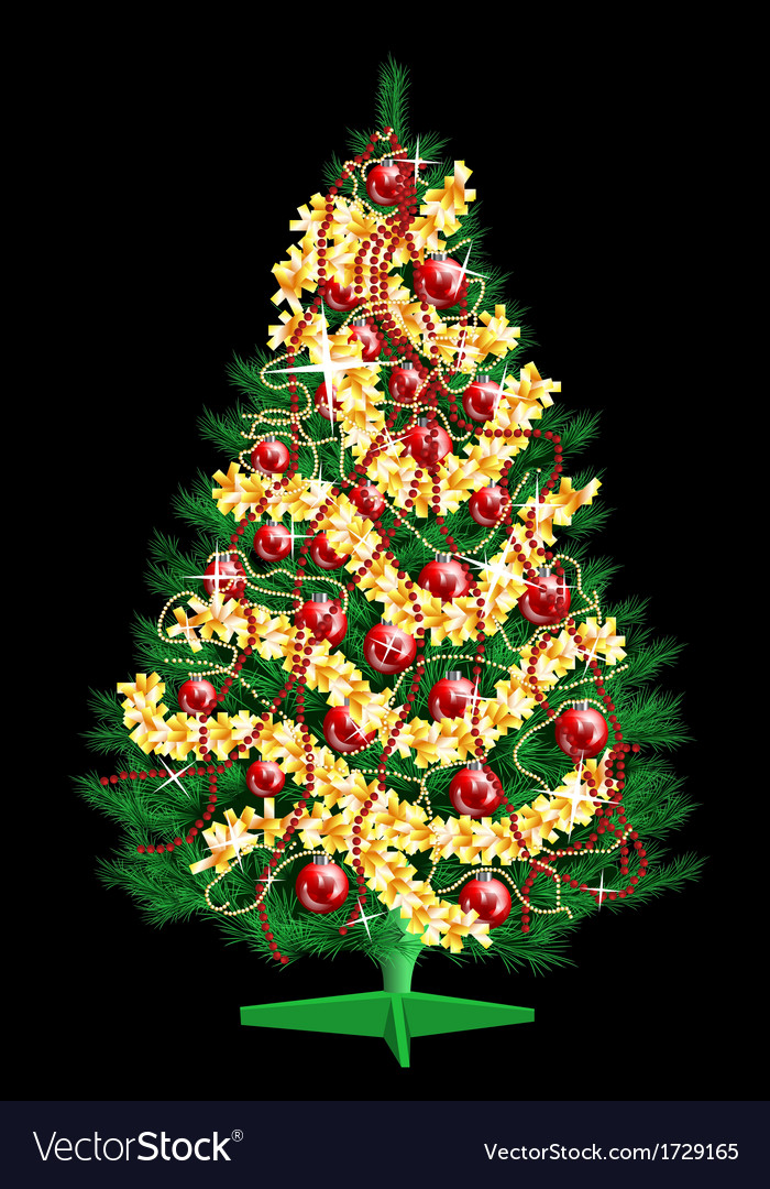 Decoration christmas tree vector | Price: 1 Credit (USD $1)