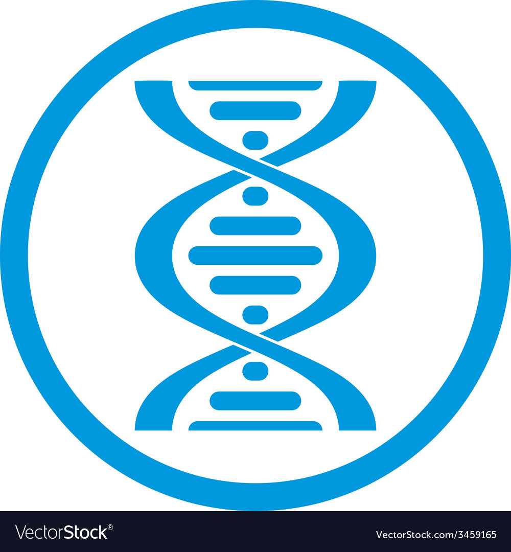 Dna icon isolated on white background vector | Price: 1 Credit (USD $1)