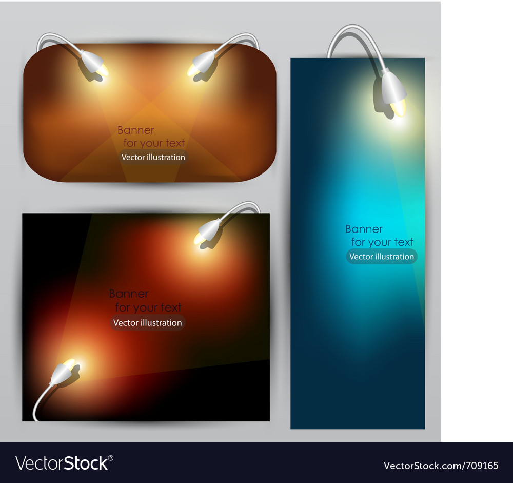 Empty placard for product advertising with lightin vector | Price: 1 Credit (USD $1)
