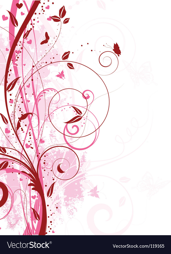 Floral grunge vector | Price: 1 Credit (USD $1)