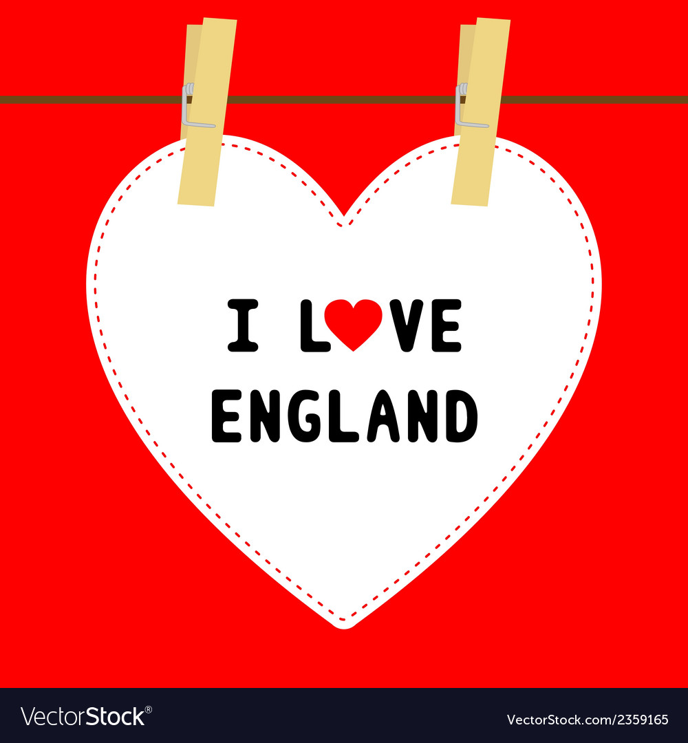 I love england5 vector | Price: 1 Credit (USD $1)