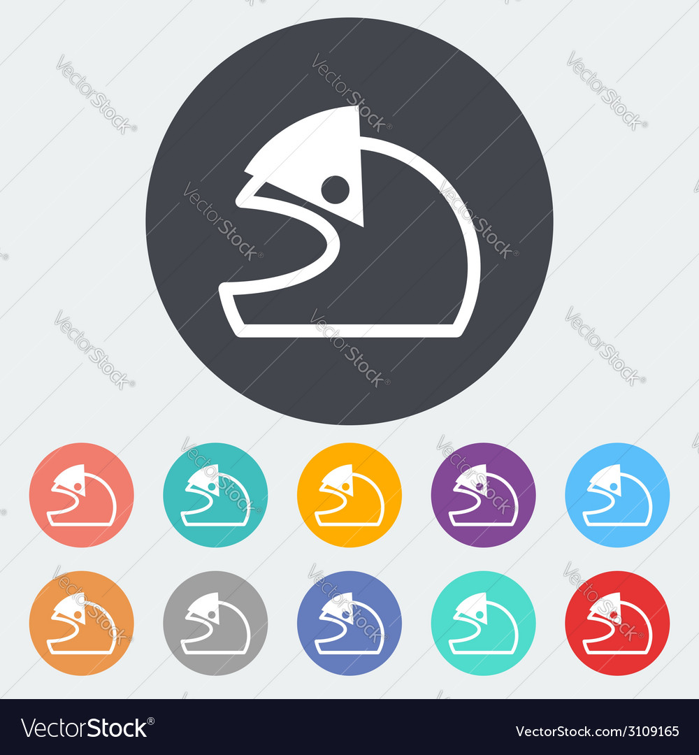 Motorcycle helmets vector | Price: 1 Credit (USD $1)