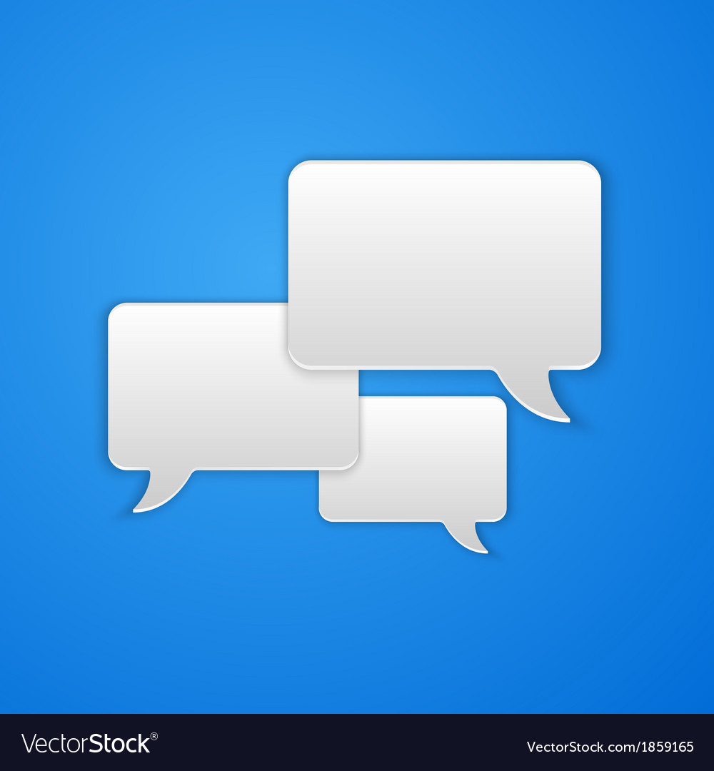 Paper cut speech bubble background vector   Price: 1 Credit (USD $1)