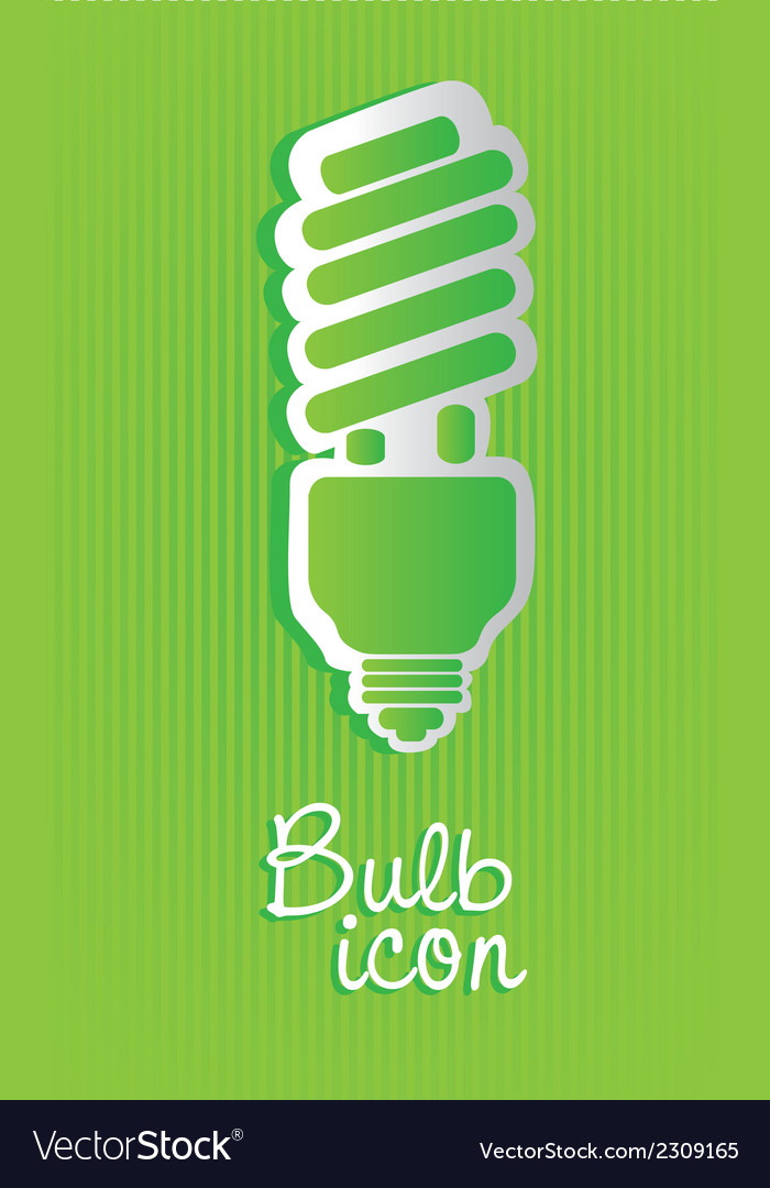 Saving bulb label isolated on green background vector | Price: 1 Credit (USD $1)