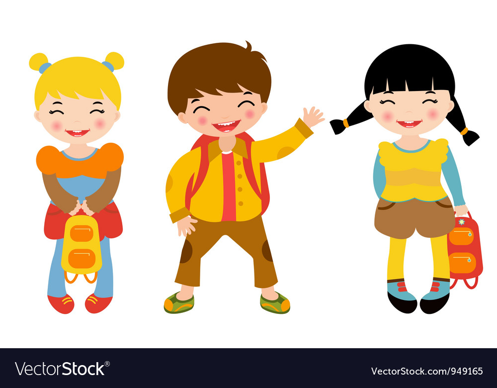 School kids vector | Price: 1 Credit (USD $1)