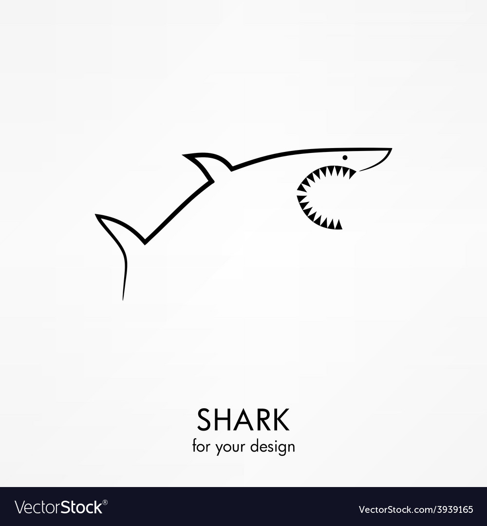 Shark icon vector | Price: 1 Credit (USD $1)