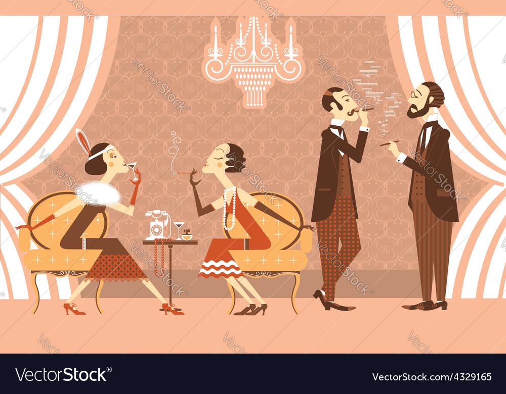 Vintage party vector   Price: 1 Credit (USD $1)