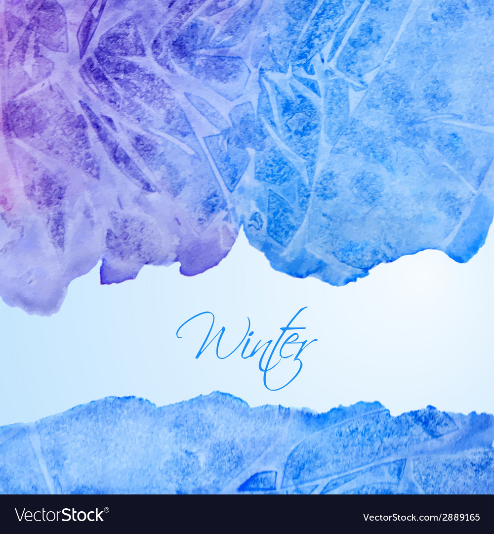 Winter watercolor background vector | Price: 1 Credit (USD $1)