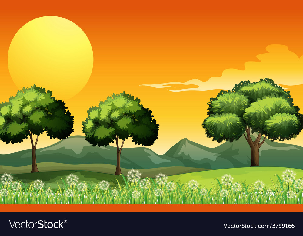 A beautiful landscape vector | Price: 1 Credit (USD $1)