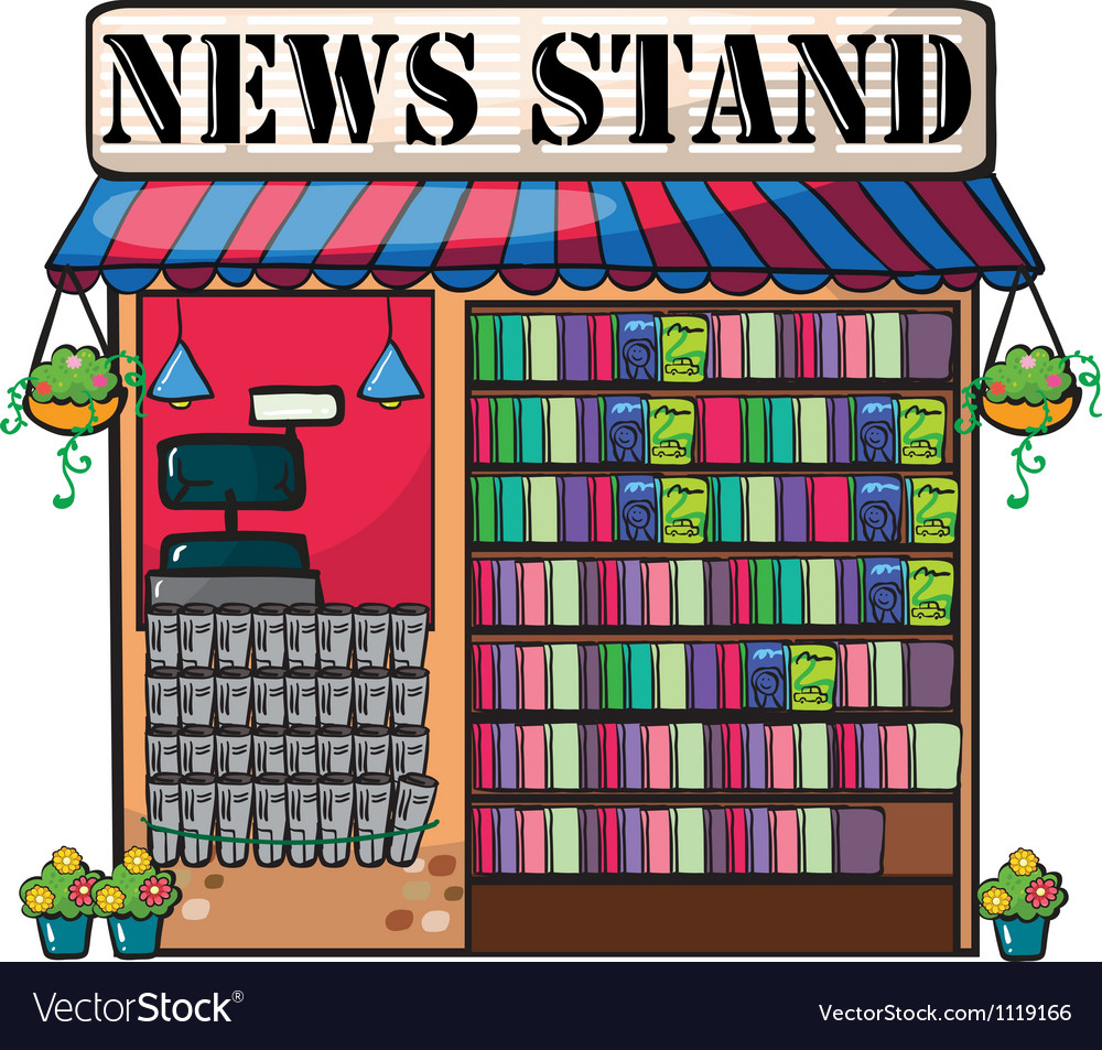 A newspaper shop vector | Price: 1 Credit (USD $1)