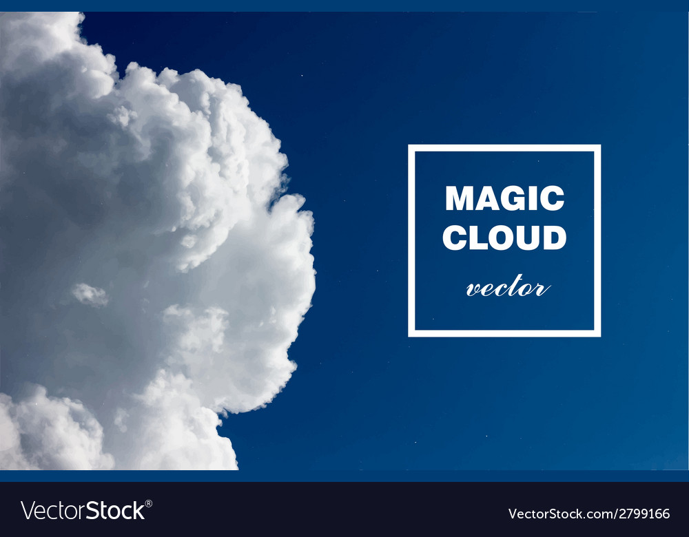 Abstract concept white cloud on blue sky backgroun vector | Price: 1 Credit (USD $1)