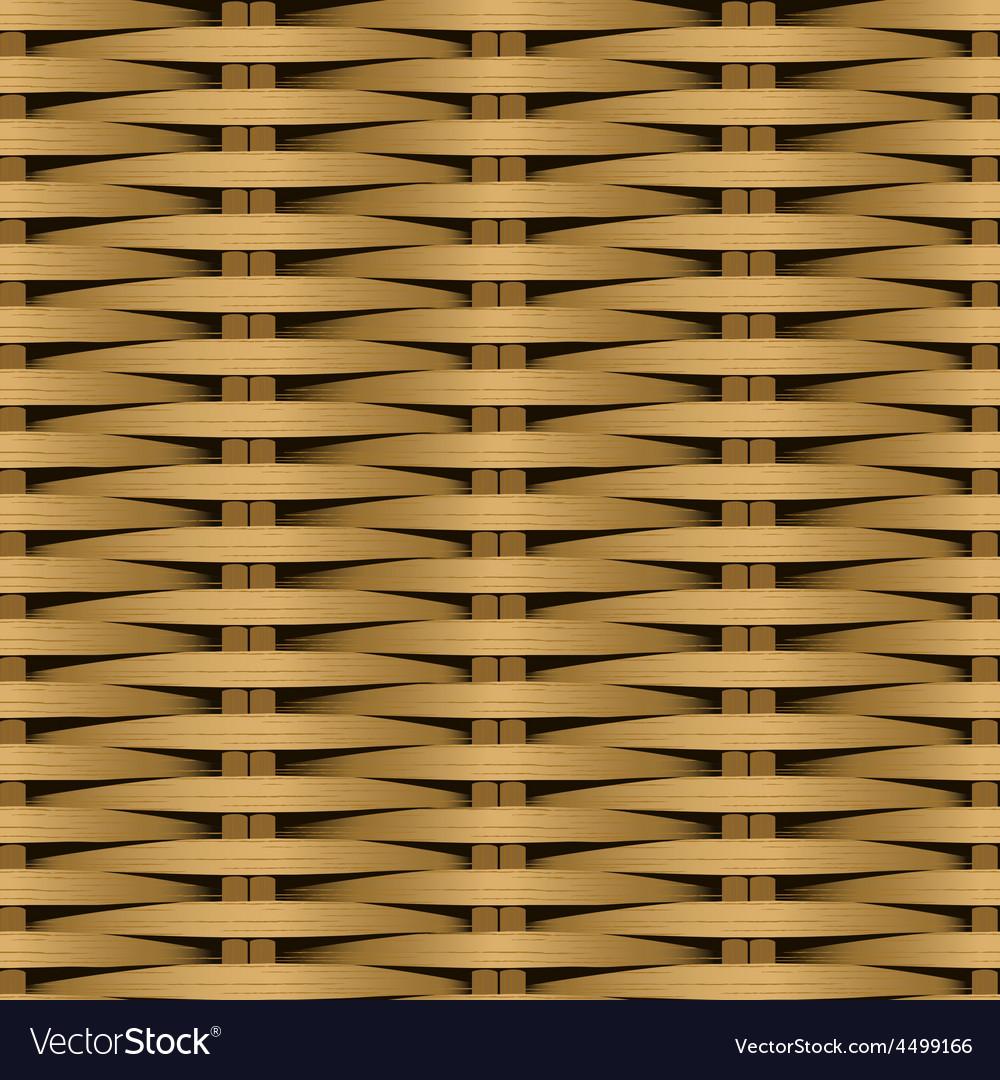 Cane flat woven fiber seamless pattern vector | Price: 1 Credit (USD $1)