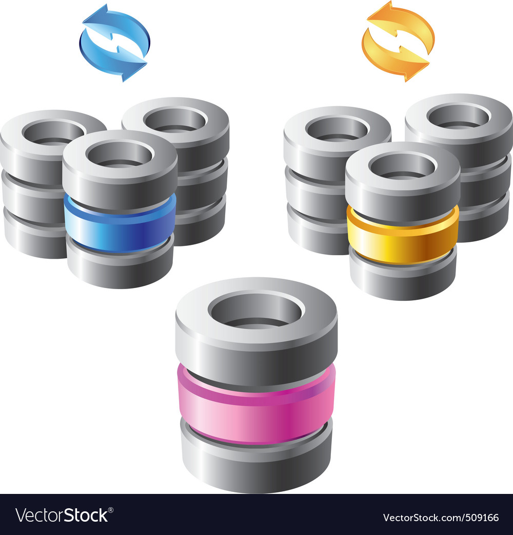 Database vector | Price: 1 Credit (USD $1)