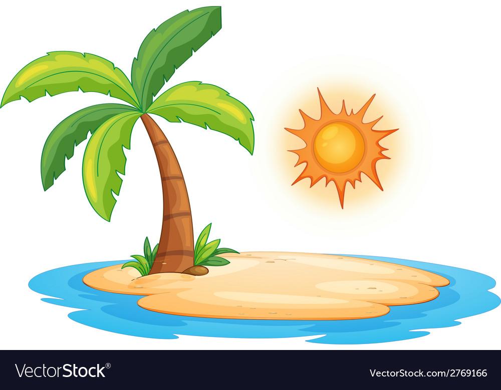 Desert island vector | Price: 1 Credit (USD $1)