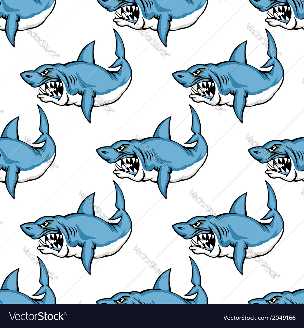 Fierce predatory swimming shark vector | Price: 1 Credit (USD $1)