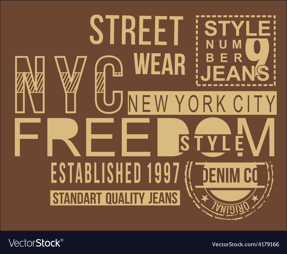 Freedom style typography t-shirt graphics vector | Price: 1 Credit (USD $1)