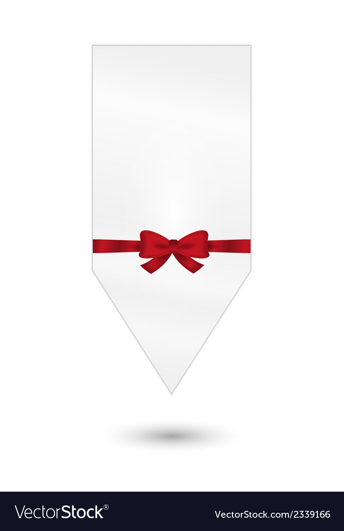 Gift card with red ribbon and bow vector | Price: 1 Credit (USD $1)