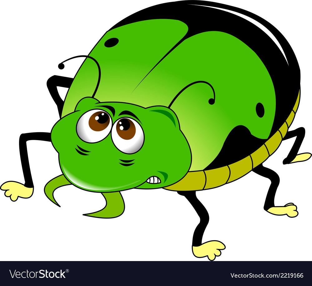 Green beetle vector | Price: 1 Credit (USD $1)