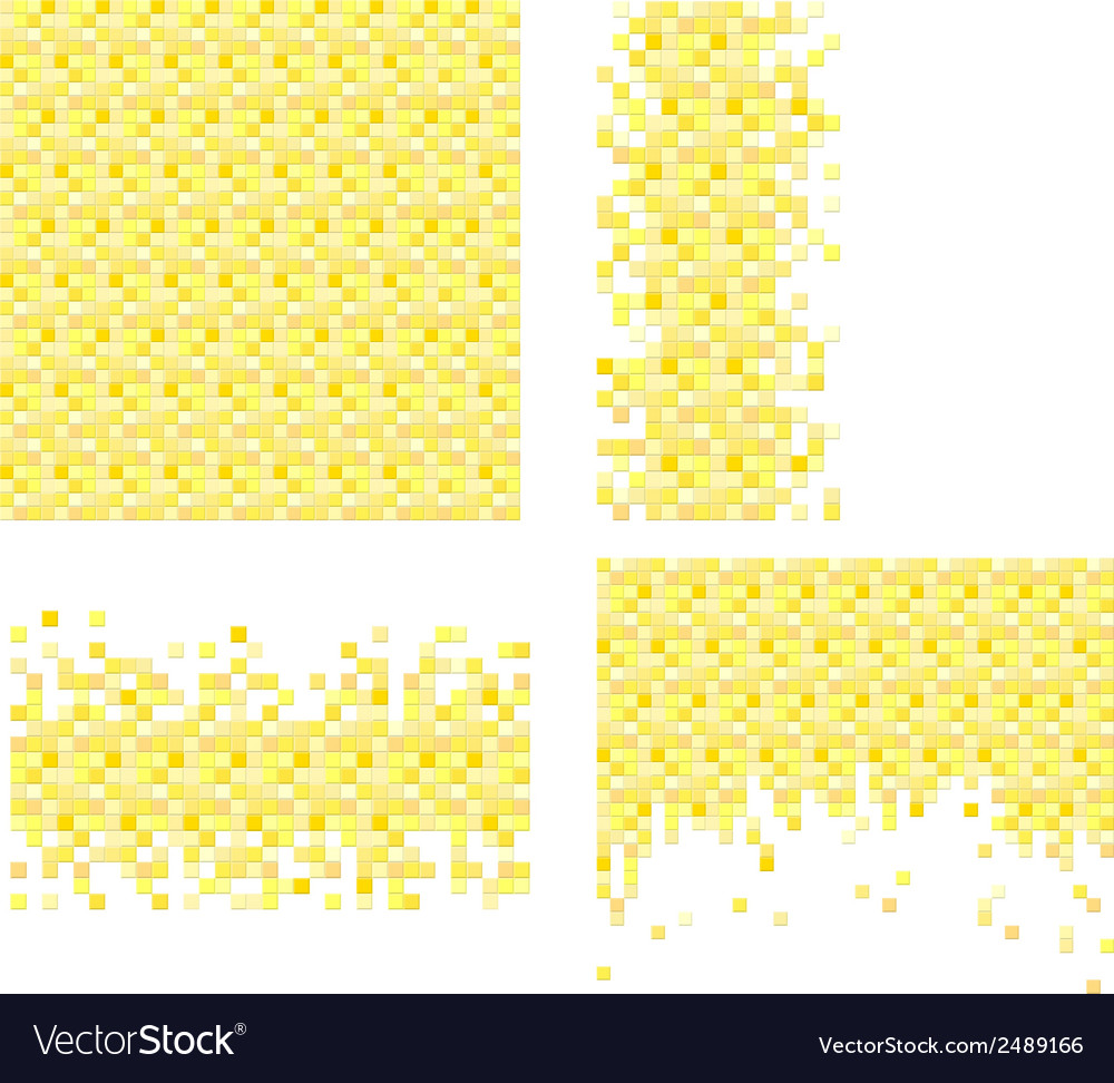 Set of 4 pixel templates for your design vector | Price: 1 Credit (USD $1)