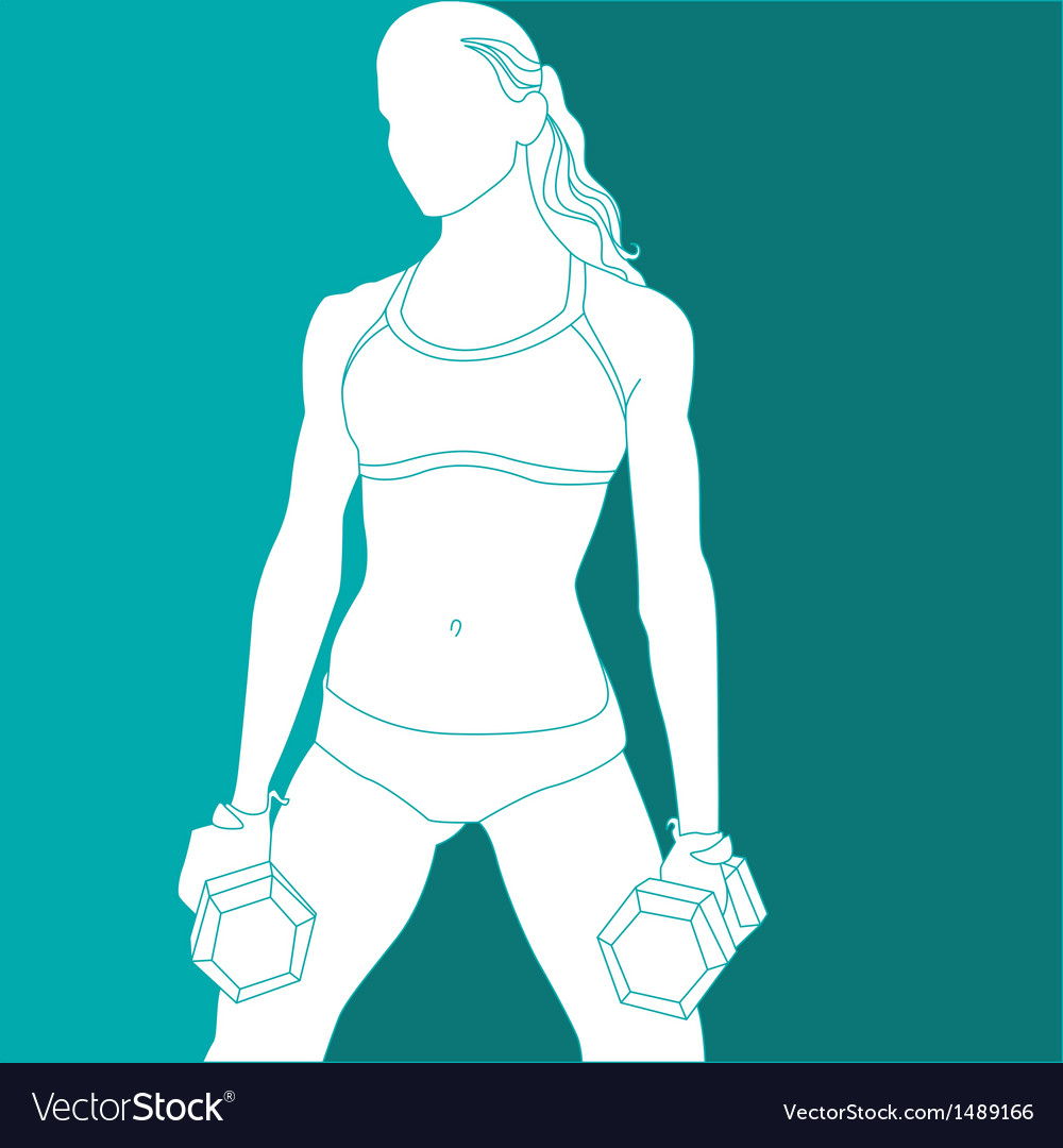 Sports girl vector | Price: 1 Credit (USD $1)