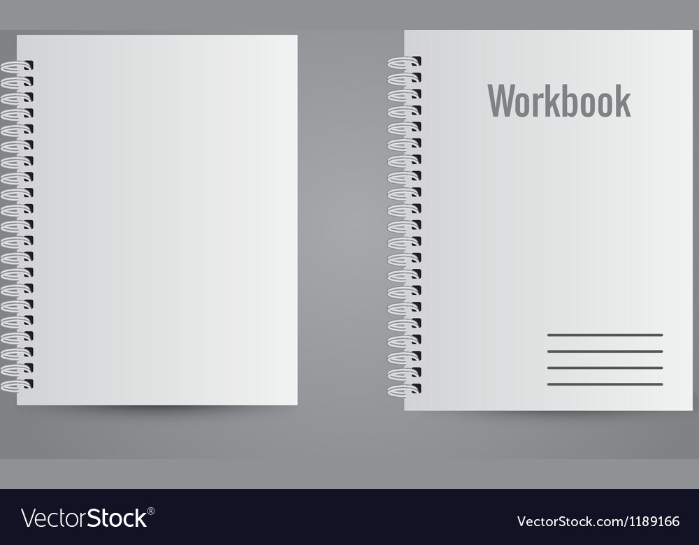 Two white realistic notebooks vector | Price: 1 Credit (USD $1)