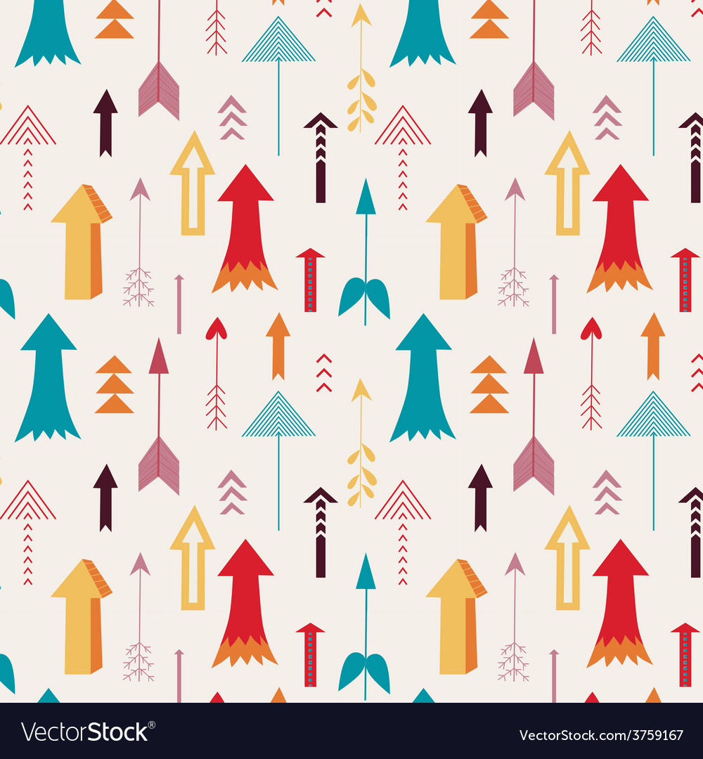 Arrows directing up seamless pattern vector | Price: 1 Credit (USD $1)
