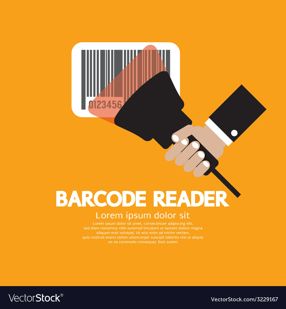 Barcode reader graphic vector | Price: 1 Credit (USD $1)