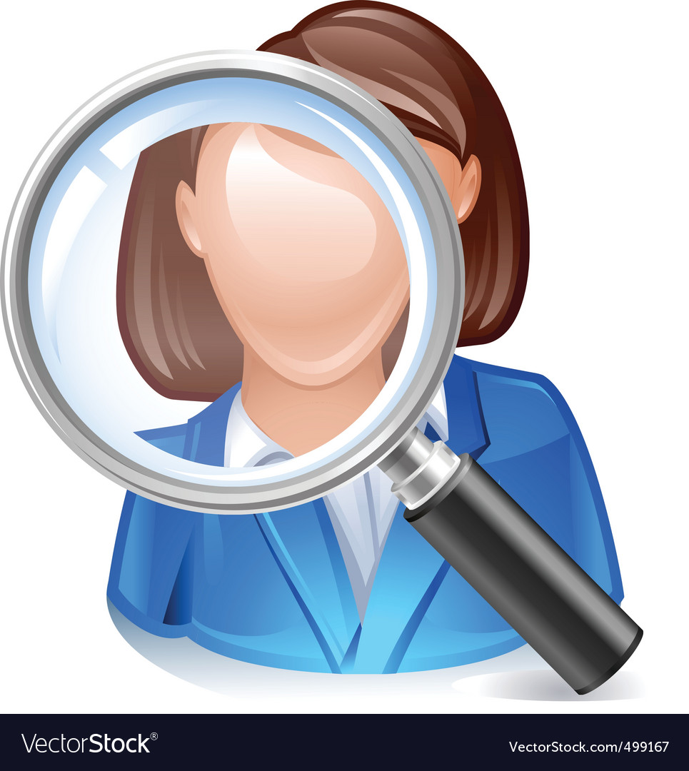 Employee search icon vector | Price: 3 Credit (USD $3)