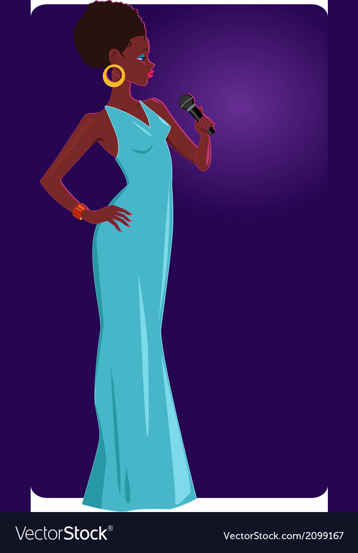 Female jazz singer vector | Price: 1 Credit (USD $1)
