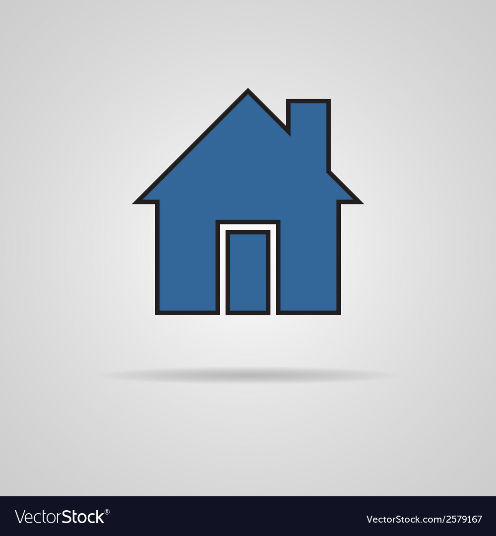 House icon with shadow vector | Price: 1 Credit (USD $1)