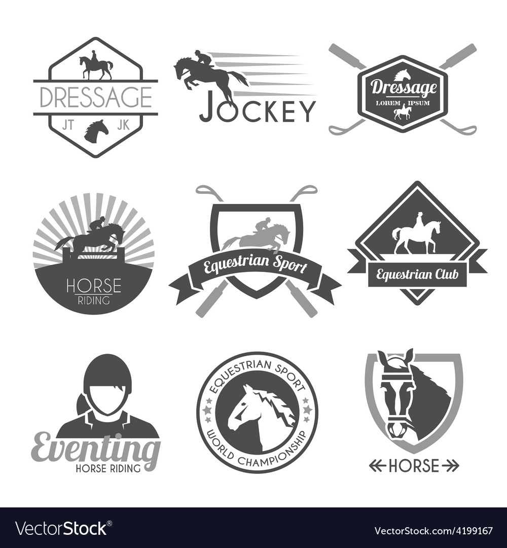 Jockey label set vector | Price: 1 Credit (USD $1)