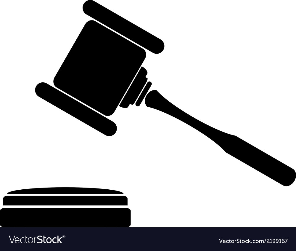 Judge gavel icon vector | Price: 1 Credit (USD $1)