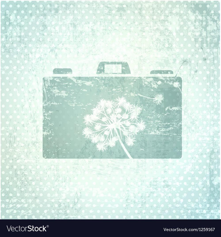 Photographer camera design background vector