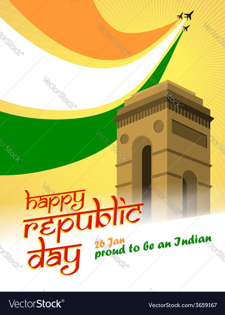 Republic day vector | Price: 1 Credit (USD $1)