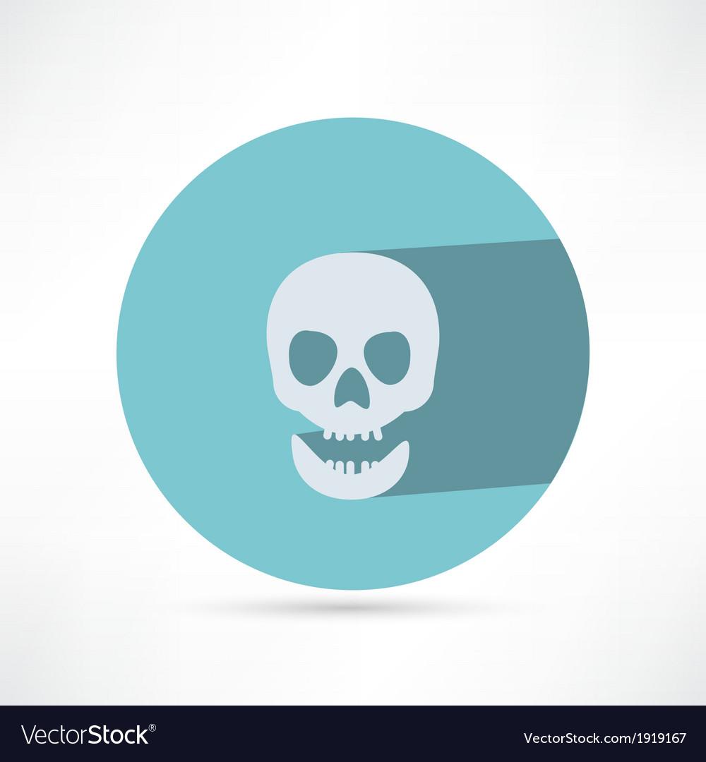 Skull icon isolated vector | Price: 1 Credit (USD $1)
