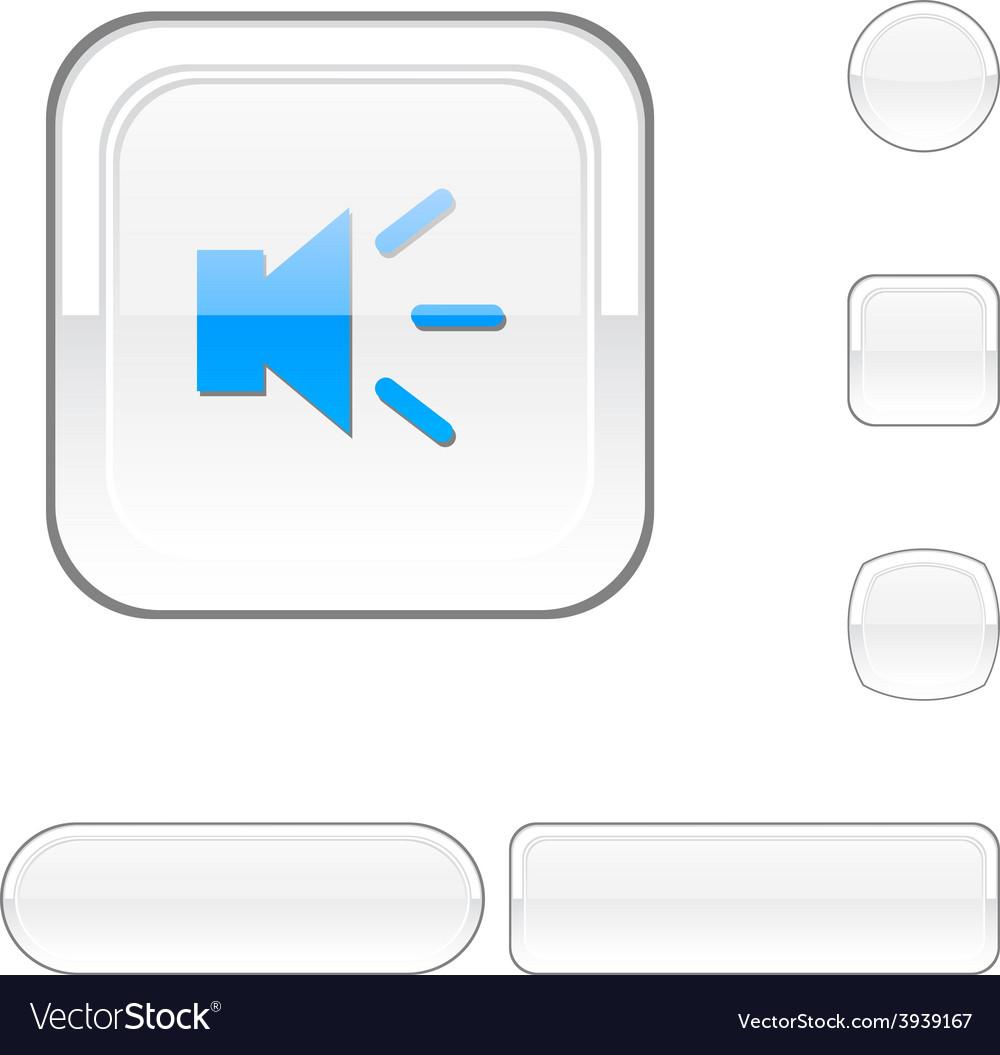 Sound white button vector | Price: 1 Credit (USD $1)