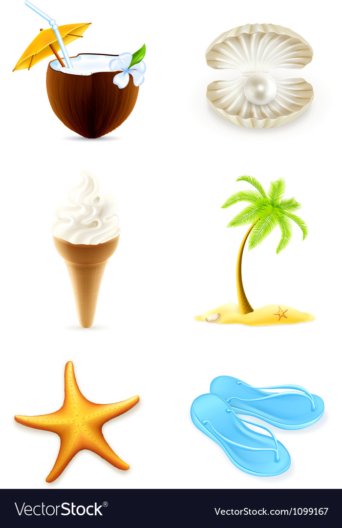 Summer icons set vector | Price: 3 Credit (USD $3)