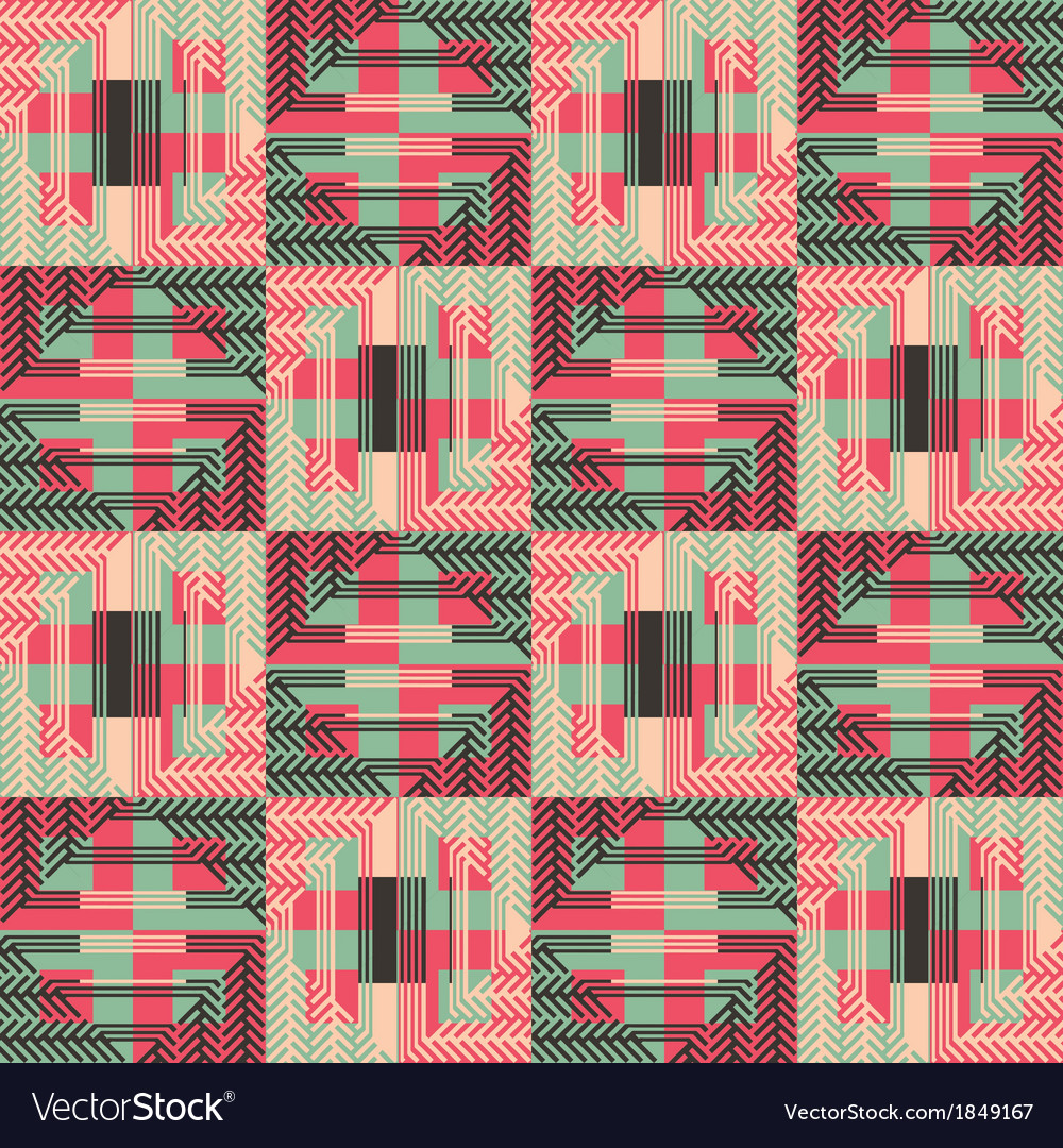 Textured geometric seamless pattern vector | Price: 1 Credit (USD $1)
