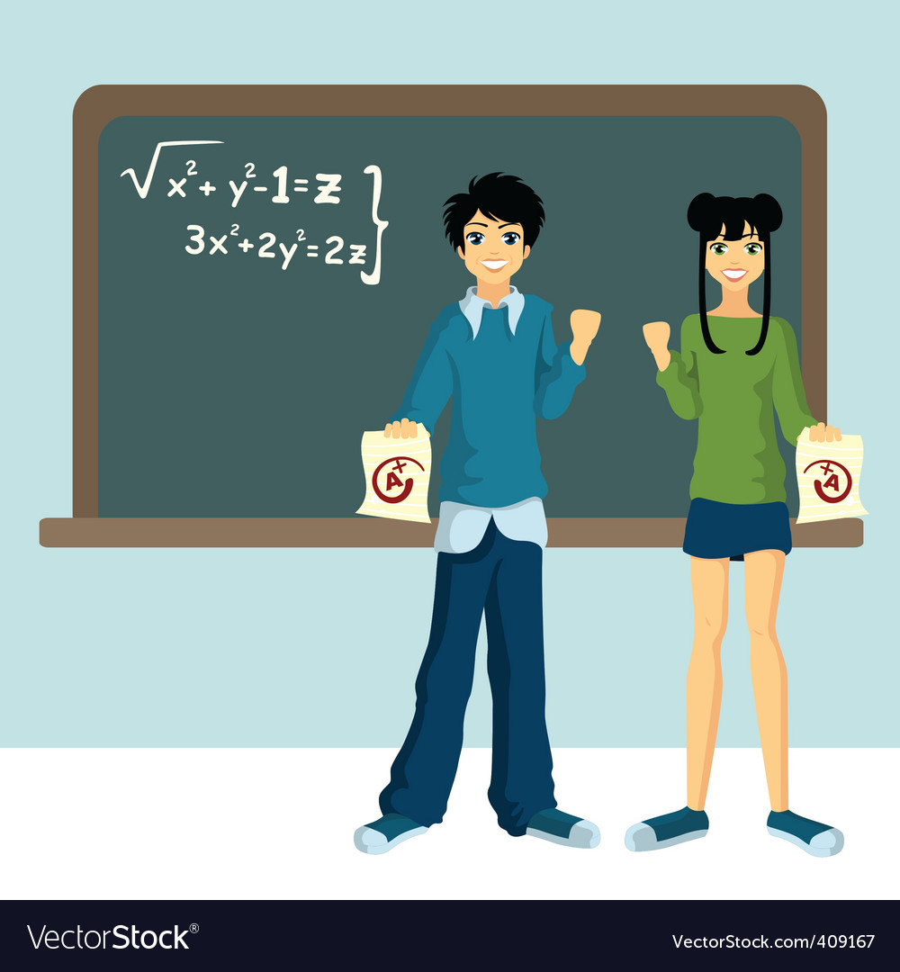 Two students vector | Price: 1 Credit (USD $1)