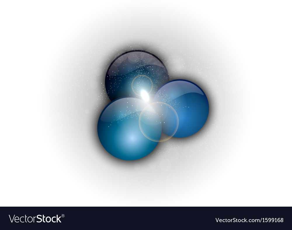 Abstract three blue points vector | Price: 1 Credit (USD $1)