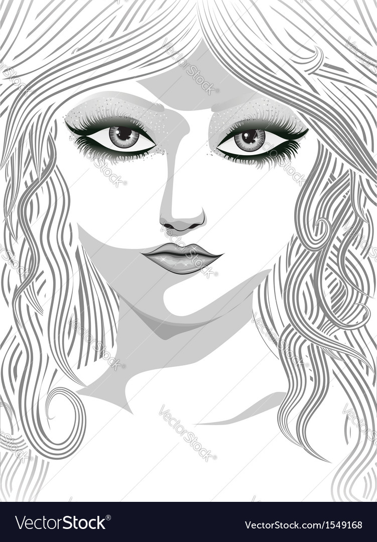 Beauty girl face vector | Price: 3 Credit (USD $3)