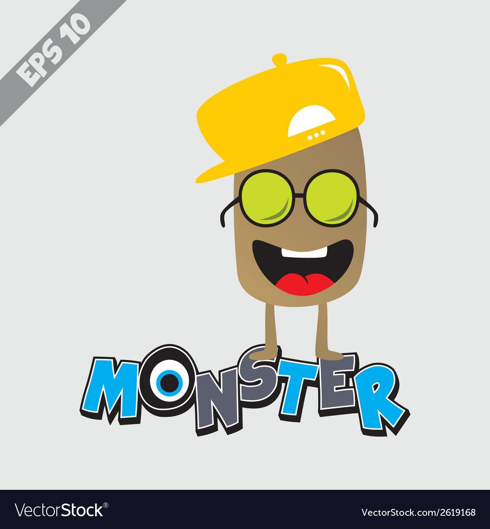 Cartoon monster design vector | Price: 1 Credit (USD $1)