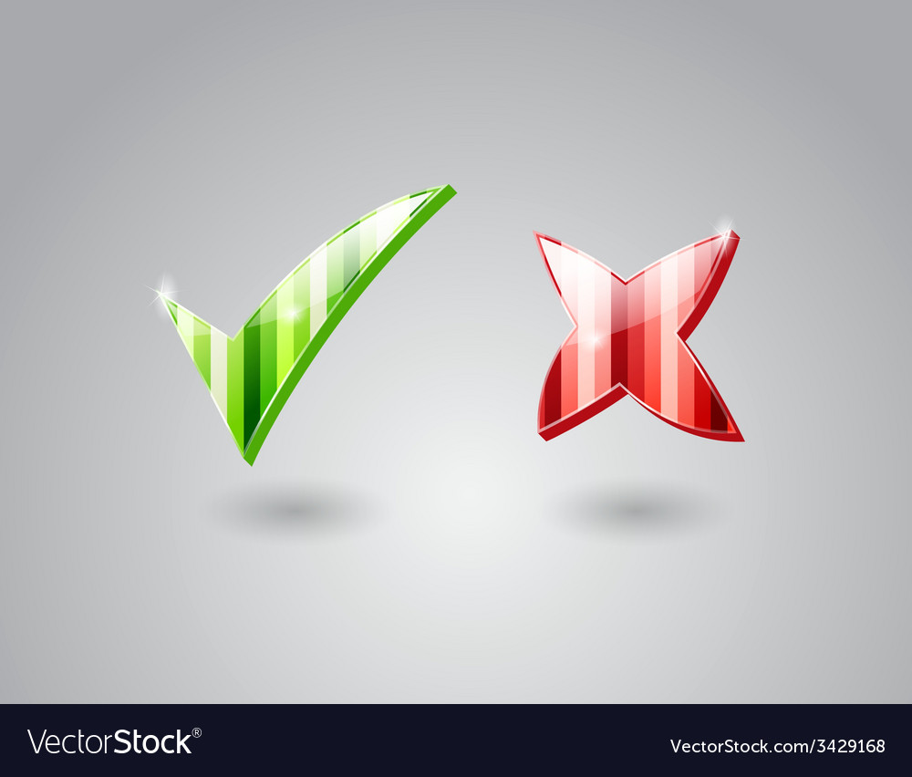 Check and cross marks vector | Price: 1 Credit (USD $1)