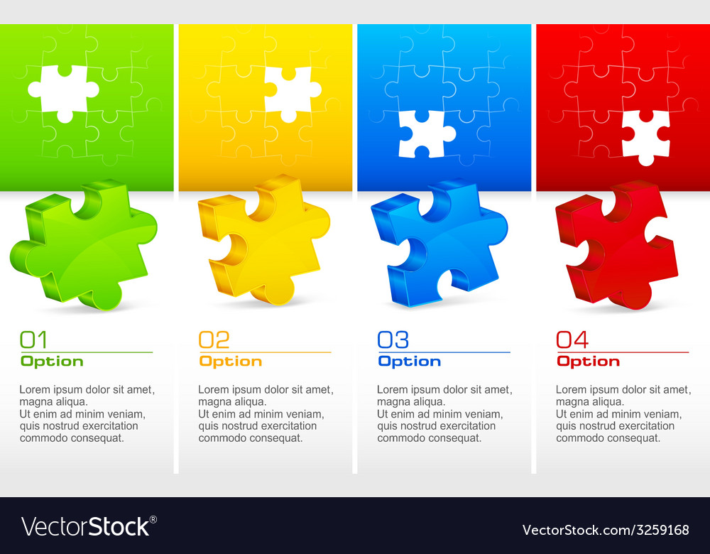 Color puzzles vector | Price: 1 Credit (USD $1)
