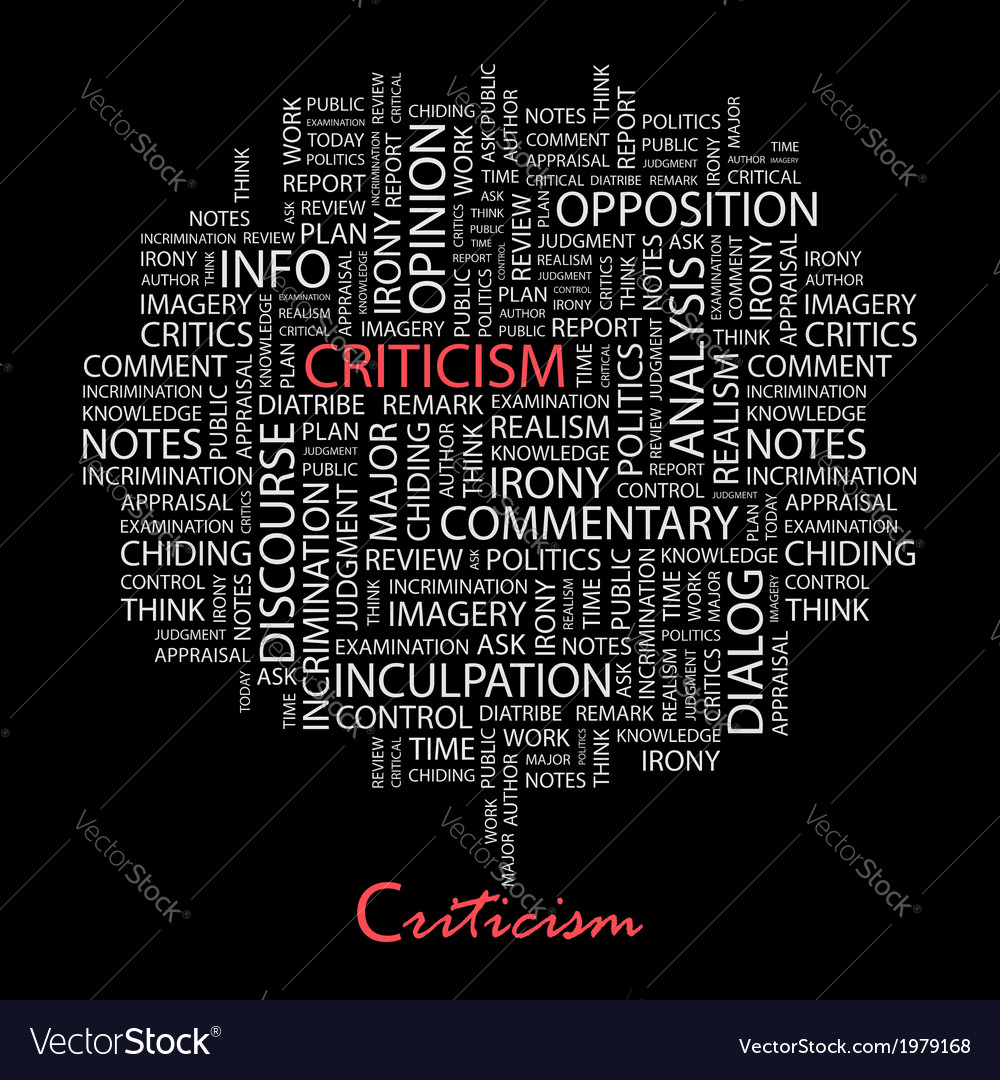 Criticism vector | Price: 1 Credit (USD $1)