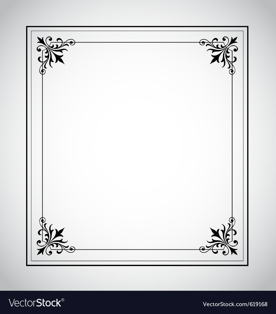 Decorative vintage frame vector | Price: 1 Credit (USD $1)