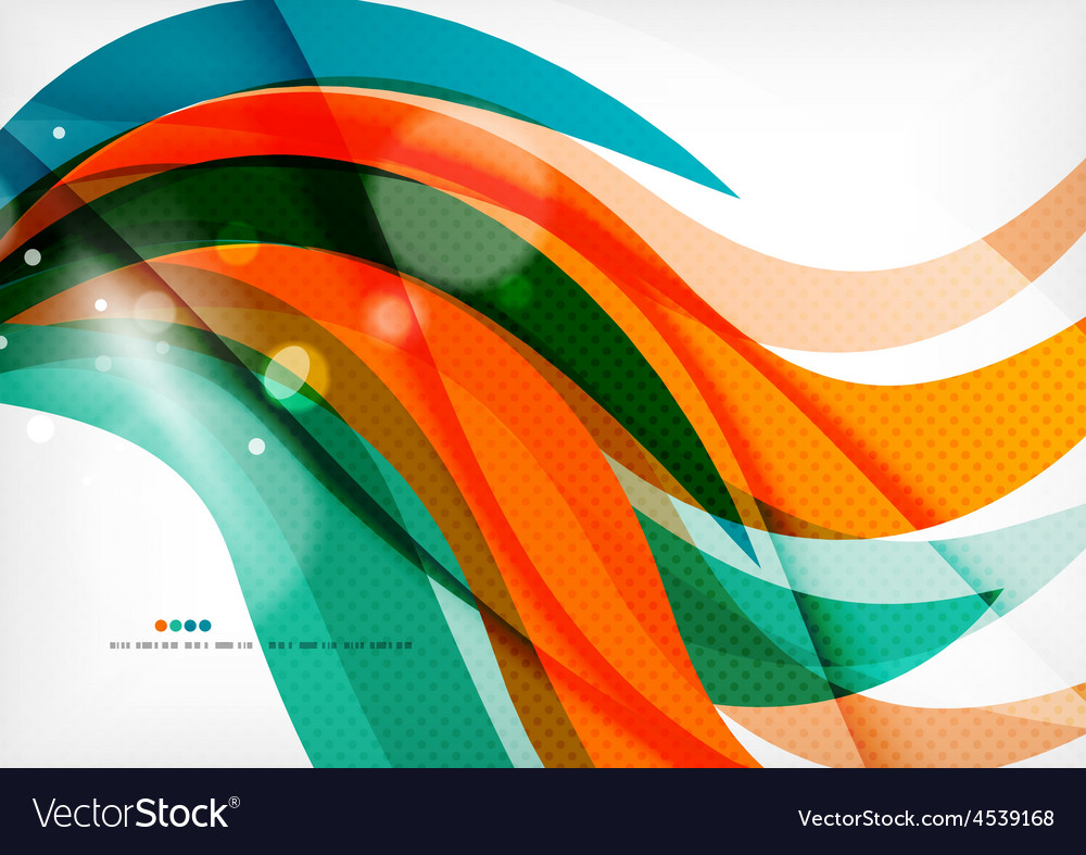 Green and orange lines modern abstract background vector | Price: 1 Credit (USD $1)