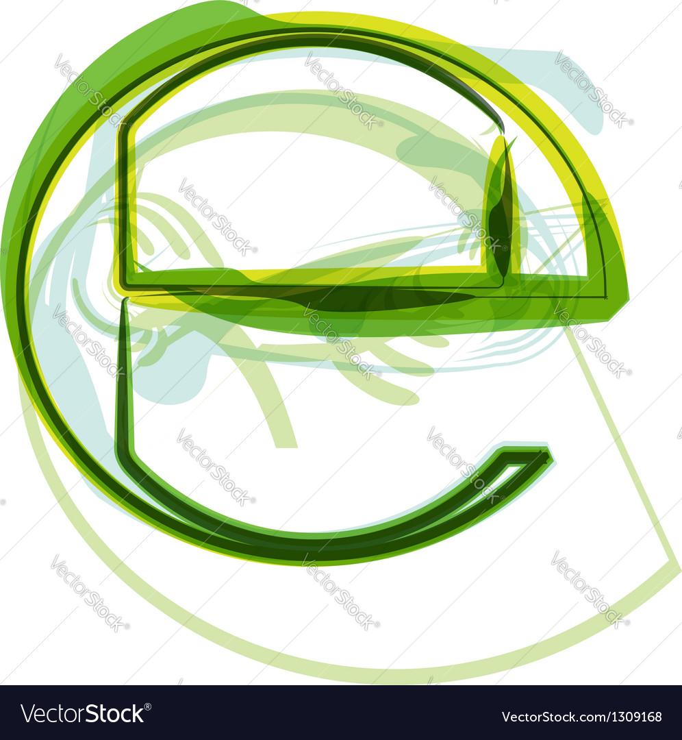 Green letter symbol vector | Price: 1 Credit (USD $1)