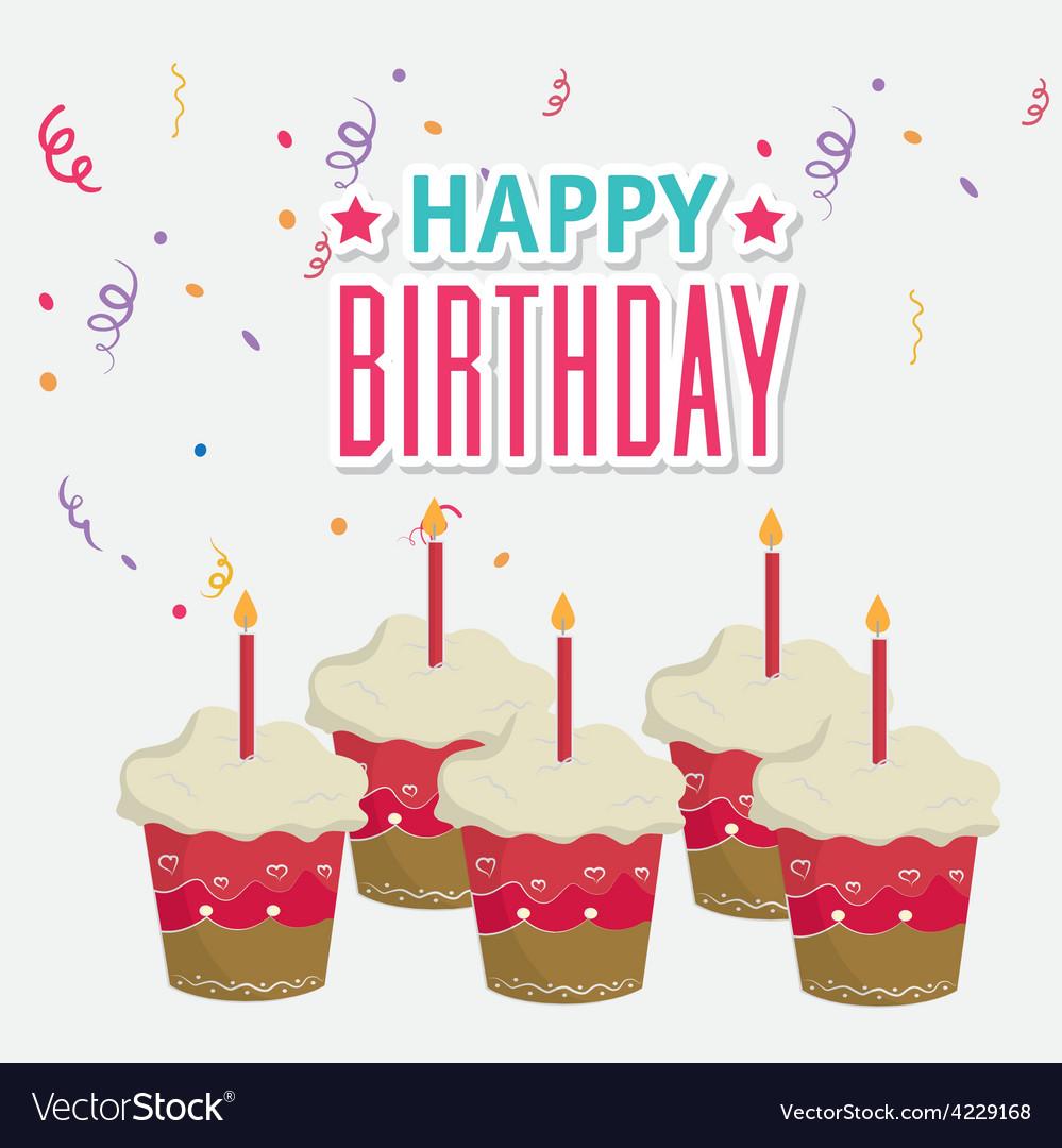 Happy birthday card design vector | Price: 1 Credit (USD $1)
