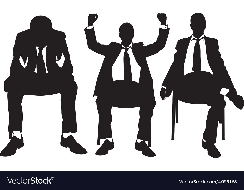 Men on chair vector | Price: 1 Credit (USD $1)